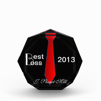 Best Boss (Custom Date & Name) Acrylic Award