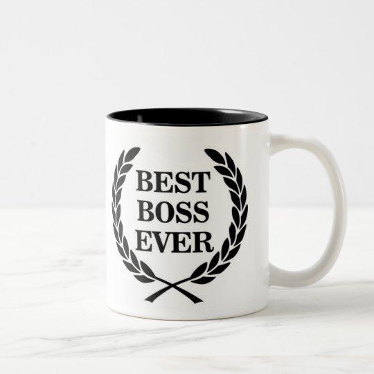 best boss ever award two tone coffee mug zazzle com
