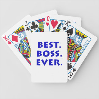 Best Boss Ever Bicycle Playing Cards