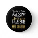Best boss ever button badge