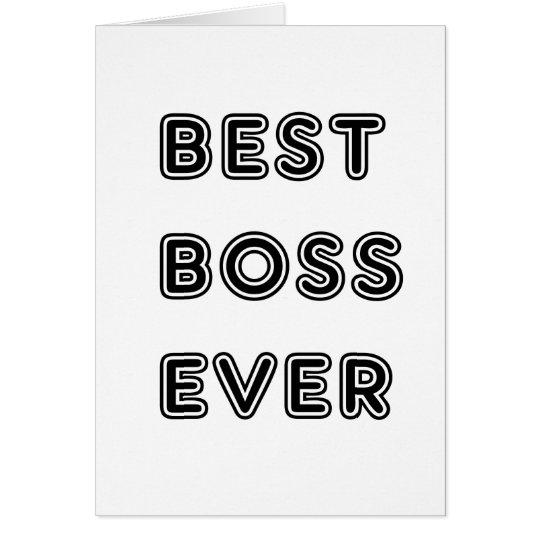 Best Boss Ever Card