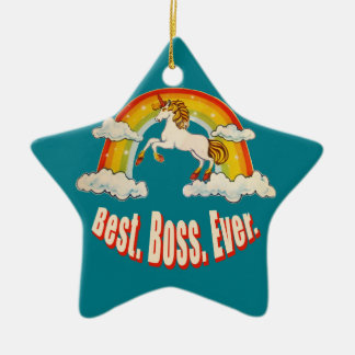 Best Boss Ever Ceramic Ornament