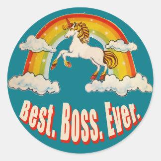 Best Boss Ever Classic Round Sticker