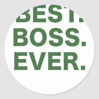 Best Boss Ever Classic Round Sticker
