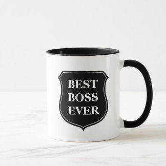 Best boss ever coffee mug with quote