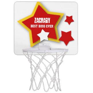 Best Boss Ever Custom Name with Stars V02 Mini Basketball Hoop
