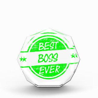 Best Boss Ever Green Award