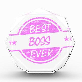 Best Boss Ever Pink Award