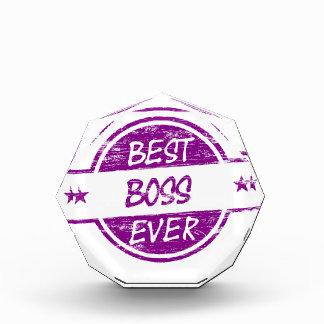 Best Boss Ever Purple Acrylic Award