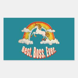 Best Boss Ever Rectangular Sticker