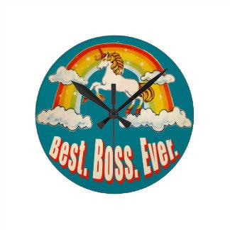 Best Boss Ever Round Clock