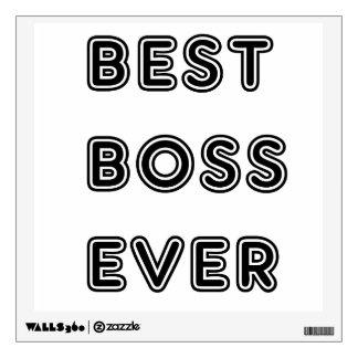Best Boss Ever Wall Decal