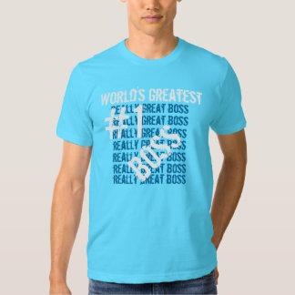 Best Boss Ever World's Greatest Boss  #1 Boss Aqua T-Shirt