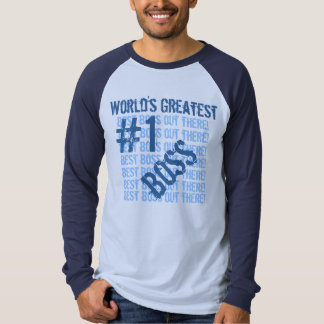 Best Boss Ever World's Greatest Boss Blue Ver 3 T-Shirt