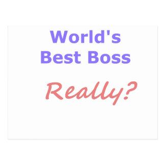 Best Boss Fun Postcard
