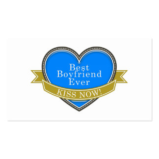 Best Boyfriend Ever Double-Sided Standard Business Cards (Pack Of 100)