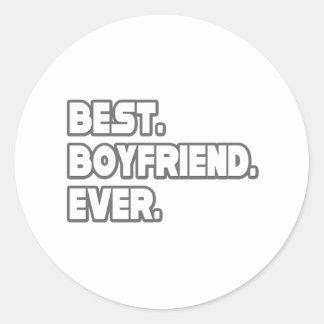 Best Boyfriend Ever Classic Round Sticker