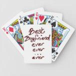 Best boyfriend ever playing cards