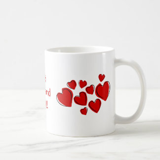 Best Boyfriend Ever! Red Sketchy Hearts Mug