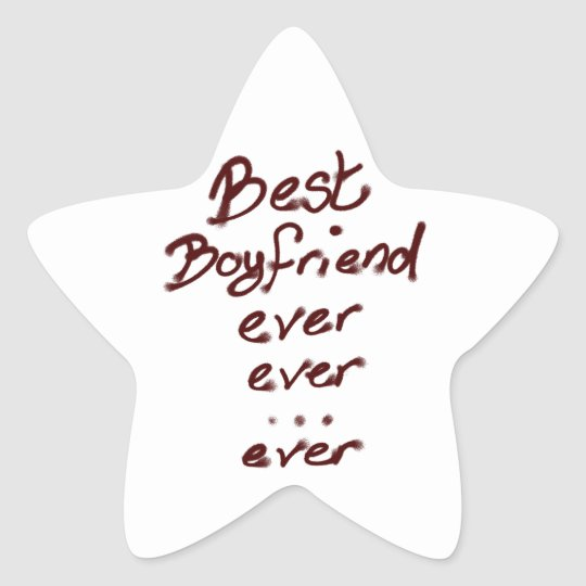 Best boyfriend ever star sticker