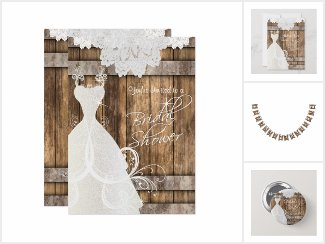 Best Bridal Shower in Wood and Lace