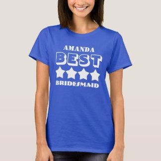 Best BRIDESMAID Wedding Party Favor A02 BLUE T-Shirt