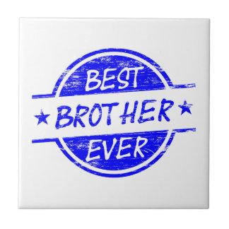 Best Brother Ever Blue Ceramic Tile