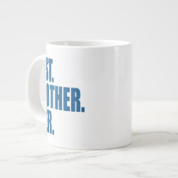 Jumbo Mug with Best. Brother. Ever. (blue) design