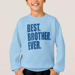 Kids' Hanes ComfortBlend® Sweatshirt with Best. Brother. Ever. (blue) design