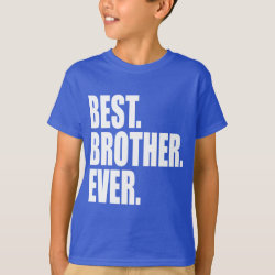 Kids' Hanes TAGLESS® T-Shirt with Best. Brother. Ever. (blue) design