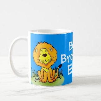 Best Brother Ever lion blue travel / club mug