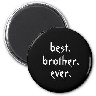 Best Brother Ever Magnet in Black Refrigerator Magnets