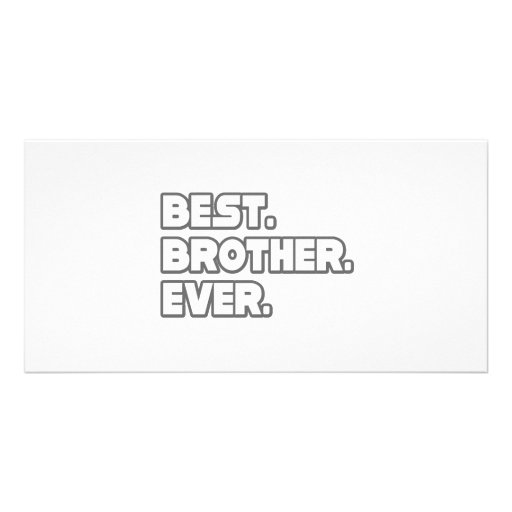 Best Brother Ever Photo Cards