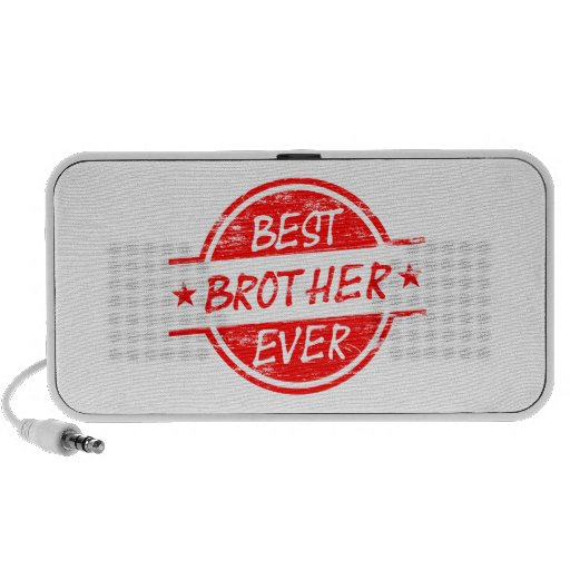Best Brother Ever Red Mini Speakers