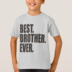 Kids' Hanes TAGLESS® T-Shirt with Best. Brother. Ever. design