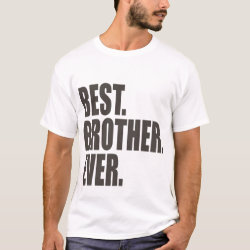 Men's Basic T-Shirt with Best. Brother. Ever. design