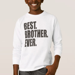 Girl's Basic Zip Hoodie with Best. Brother. Ever. design