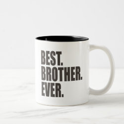 Two-Tone Mug with Best. Brother. Ever. design