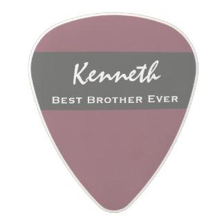 Best Brother Ever Violet and Black Custom Name Z12 Polycarbonate Guitar Pick