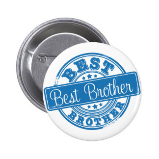 Best Brother -rubber stamp effect- Button