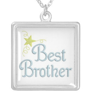 best brother silver plated necklace
