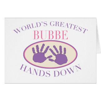 Best Bubbe Hands Down T-shirt Card