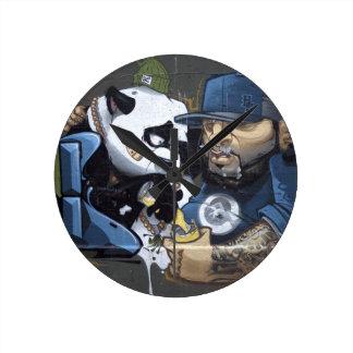 Best Buddie Panda Love Round Clock