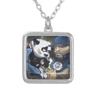 Best Buddie Panda Love Silver Plated Necklace