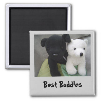 Best Buddies 2 Inch Square Magnet