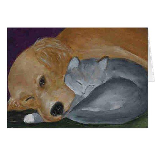Best Buddies original painting by LN Pettey Card