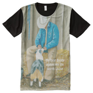 """""""Best Buddies"""" Painting by Barbara A Applegate All-Over Print Shirt"""