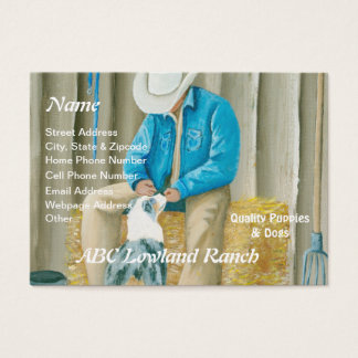 """""""Best Buddies"""" Painting by Barbara A Applegate Business Card"""