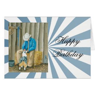 """Best Buddies"" Painting by Barbara A Applegate Card"