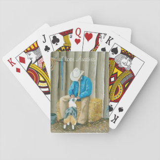 """""""Best Buddies"""" Painting by Barbara A Applegate Playing Cards"""